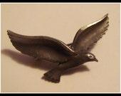 Vintage Pewter Seagull Bird Brooch