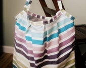 Everyday Bag - Large tote purse in multicolored stripes