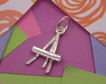 045 Silver Painter's Easel Charm