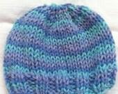 Blue and Purple Newborn Hat