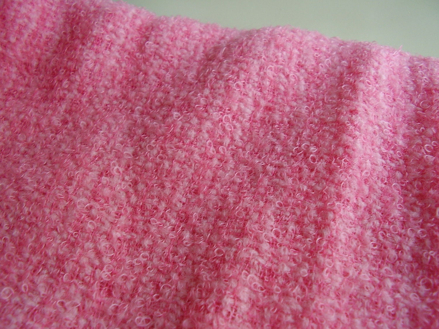 Vintage 1960s 1970s Cotton Candy Pink Boucle Sewing Supply