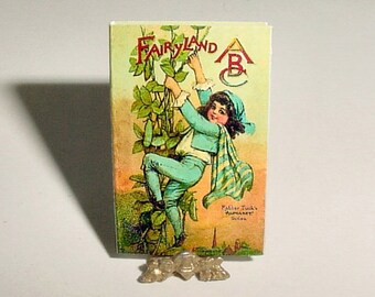 Dollhouse Miniature FAIRYLAND ABC Alphabet Book - Raphael Tuck and Sons, Frances Brundage - One Inch Scale Childrens Nursery Book Accessory