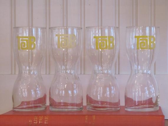 1970s Tab Glasses, Tab Glasses, 4 Tab Glasses, Tab