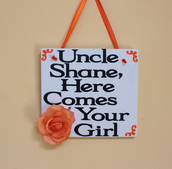 Here comes the bride - here comes your girl - wood wedding sign - wedding decor - ring bearer - rustic wedding
