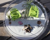 Miniature Custom Beach Adirondack Chairs with Flip Flops  - by Landscapes In Miniature