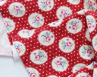Cotton Fabric Falling In Love Red per Yard 24995