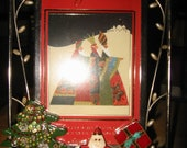 Vintage Jewelry Embellished Night Before Christmas Photo Frame by Kay Creatives