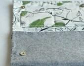 Hand made grey purse/clutch bag - Clutch/portafogli di feltro grigio fatto a mano
