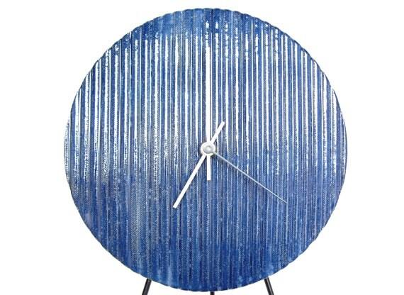 Wall Clock in Quiet Rain, modern stoneware ceramic wall hanging art clock housewares home decor