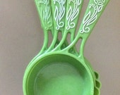 Vintage Green Measuring Cup Set