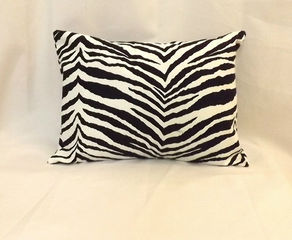 Decorative Lumbar Pillow Cover Black and White by