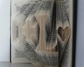"""First Anniversary Gift - I Love You - Custom Altered Book - Two initials with hearts and """"plus"""" in between - Boyfriend Anniversary"""