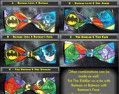 BowTies Made From DC Comics Fabric - Choose From 11 Great Looking Batman Villain Bow Ties, Choose A Favorite Bad Guy -U.S.SHIPPlNG ONLY 1.49