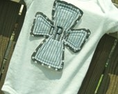Personalized Baptism/Christening Cross bodysuit or Shirt for boy or girl