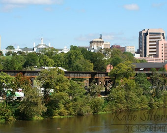 SALE James River view of Eythl Mansion in Richmond Virginia, Photo Art 8x10, Framed Photo Option