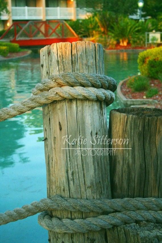 Dock Post Photo, 8x10 Print, Framed Photography Option