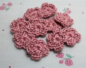 NEW-Mini Crochet Flowers  Candy Pink (15 pcs)