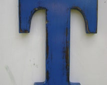 wooden letter T sign shabby chic rustic wall hanging decor , cottage,home nursery decor handmade