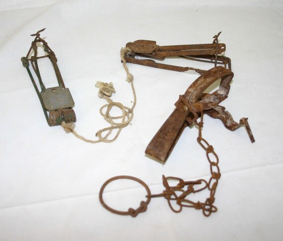 Vintage Animal Traps Victor Trap And Gopher Mole Rat Traps