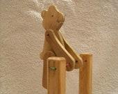 Acrobatic Wooden Bear - Folk Toy