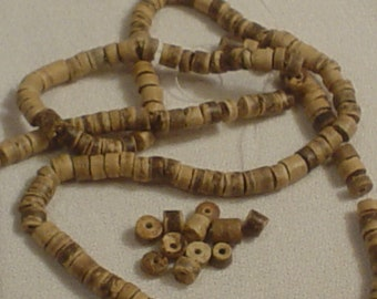 Wooden Heishi Beads 22 inch String