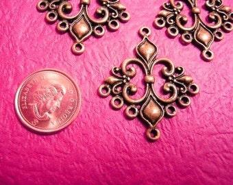 4pc antique copper finish chandelier component-5685