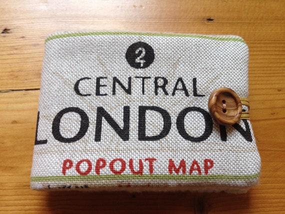 London Map Fabric Needle Book