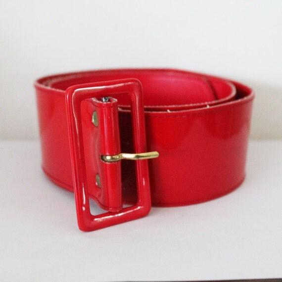 Vintage 1970s Red Cherrylicious Pop Plastic Belt