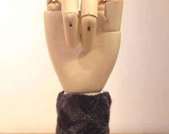 Knit Basket-Weave Wrist Warmer