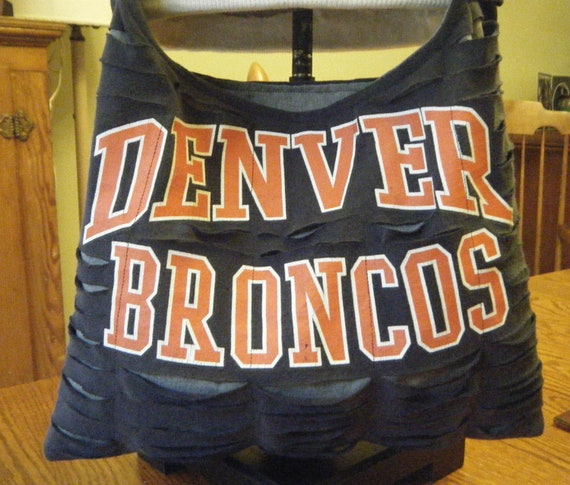 Denver Broncos Recycled/Upcycled Tshirt Cross Body Bag