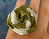 Fabric Flower ring / adjustable