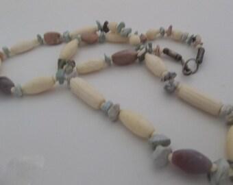 Bone and Gemstone Necklace