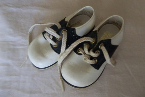 Baby Deer Leather Saddle Shoes