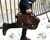 VIntage Coach Coco brown Rustic leather bag