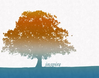"SALE Trees ""Inspire"" Art Print (11x14)"