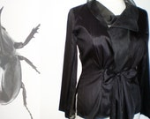 Elegant Silk blouse/ Black or white blouse in dupioni silk/ Organza blouse by FedRaDD