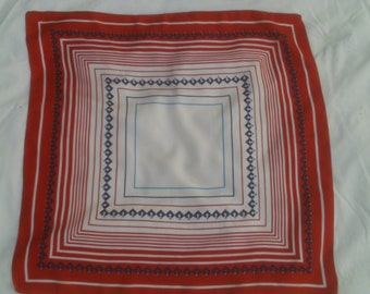 Red, White, and Blue Square Scarf ECS