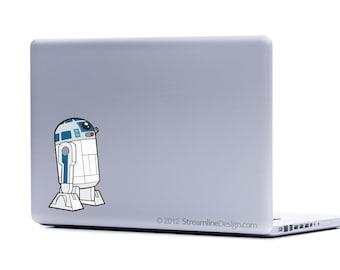 Star Wars R2-D2 Vinyl Laptop or Automotive Art FREE SHIPPING, netbook art notebook sticker droid clone wars robot sticker scifi laptop art