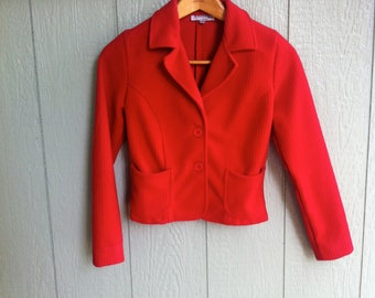Small Vintage Red Fitted Jacket
