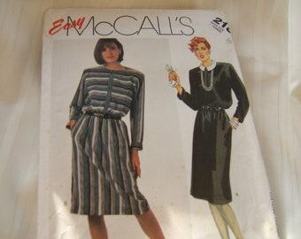 McCalls 2182 uncut womans ladies dress pattern size 10