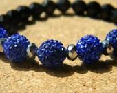 Blue Swarovski Beaded Bracelet
