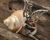 1pcs - findings - supply - supplies- leather findings - pendant - tibetian silver plated- fairy  pendant