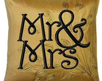Mr. & Mrs. Embroidery Design Pattern 3 sizes  INSTANT DOWNLOAD