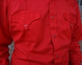 SPRING CLEARANCE Red Sears Western Shirt Fast Shipping