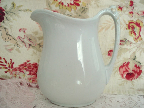 Vintage Anthony Shaw & Son Pitcher Creamer England White Old
