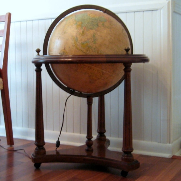 Vintage Lighted Replogle 16 Heirloom Globe By