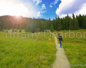 the Magic Trail - hiking in the Colorado wilderness - Rocky Mountain National Park - 8x10 color matte print