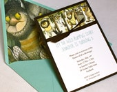 Reserved Listing for dflores1972 - Where the Wild Things Are Birthday Invitation
