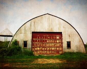 Farm Building Photograph, Autumn Colors, Rural, Rustic Photograph