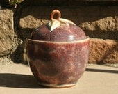 Apple Jar - stoneware pottery, hand thrown